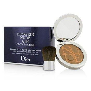 Diorskin Nude Air Healthy Glow Radiance Powder (With Kabuki Brush) - # 003 Warm Tan (10g/0.35oz)