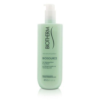 Biosource Purifying & Make-Up Removing Milk - For Normal/Combination Skin (400ml/13.52oz)