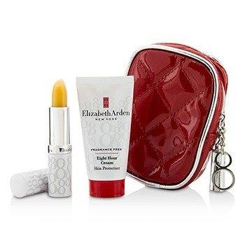 Elizabeth Arden Eight Hour Cream Набор: Eight Hour Cream Защитный Крем без Отдушек 28г/1унц + Защитный Стик для Губ SPF 15 3.7г/0.13унц + Сумка 2pcs+1bag