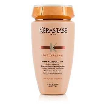 Discipline Bain Fluidealiste Smooth-In-Motion Sulfate Free Shampoo - For Unruly, Over-Processed Hair (New Packaging) (250ml/8.5oz)