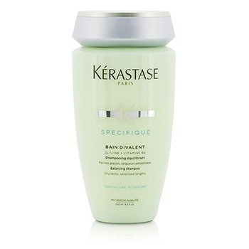 Kerastase Specifique Bain Divalent Балансирующий Шампунь (для Чувствительных Волос с Жирными Корнями) 250ml/8.5oz