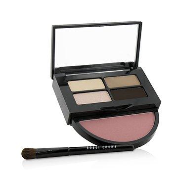 Bobbi Brown Instant Pretty Eye & Cheek Palette (3x Eye Shadow  1x Metallic Eye Shadow  1x Blush  1x Mini Eye Shadow Brush) -
