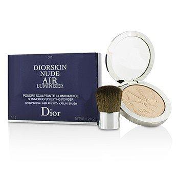 Christian Dior Diorskin Nude Air Luminizer Мерцающая Моделирующая Пудра (с Кистью Кабуки) - #001 6g/0.21oz