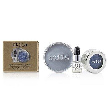 Stila Magnificent Metals Foil Finish Тени для Век с Mini Stay All Day Жидким Праймером для Глаз - Metallic Cobalt 2pcs