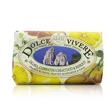 Dolce Vivere Fine Natural Soap - Capri - Orange Blossom, Frosted Mandarine & Basil (250g/8.8oz)