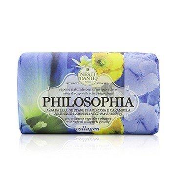 Philosophia Natural Soap - Collagen - Blue Azalea, Ambrosia Nectar & Starfruit With Vegetal Collagen & Ginseng (250g/8.8oz)