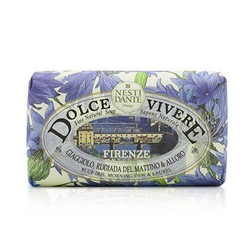 Dolce Vivere Fine Natural Soap - Firenze - Blue Iris, Morning Dew & Laurel (250g/8.8oz)