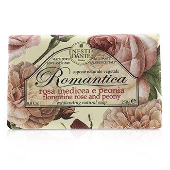 Nesti Dante Romantica Exhilarating Натуральное Мыло - Флорентийская Роза и Пион 250g/8.8oz