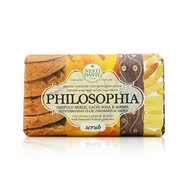 Philosophia Natural Soap - Scrub - Mediterranean Plum, Persimmon & Amber With Bran & Walnut Granules (250g/8.8oz)