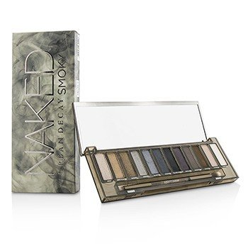 Naked Smoky Eyeshadow Palette (12x Eyeshadow, 1x Doubled Ended Smoky Smudger/Tapered Crease Brush) (14.2g/0.492oz)