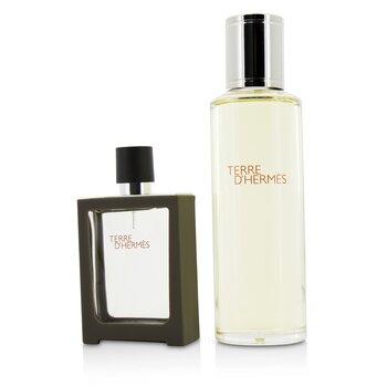 Terre D'Hermes Eau De Toilette Refillable Spray 30ml/1oz + Refill 125ml/4.2oz (2pcs)