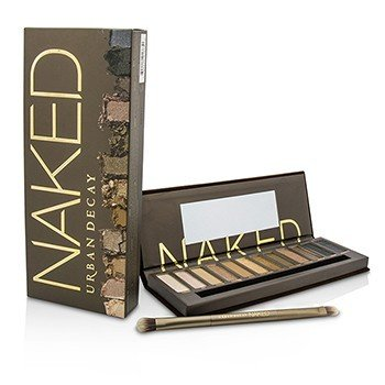 Naked Eyeshadow Palette: 12x Eyeshadow, 1x Doubled Ended Shadow/Blending Brush (6pcs)