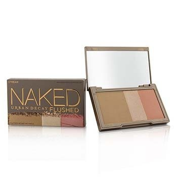 Naked Flushed - Streak (1x Blush, 1x Bronzer, 1x Highlighter) (14g/0.49oz)