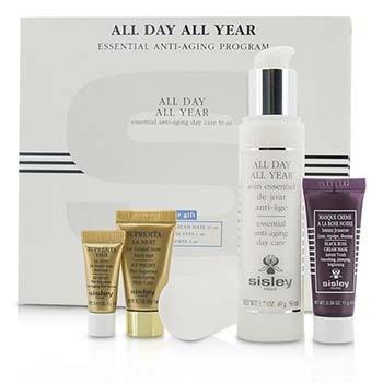 Sisley Антивозрастная Программа: All Day All Year 50мл + Black Rose Крем Маска 10мл + Supremya Ночной Крем 5мл + Supremya Сыворотка для Век 1мл 4pcs