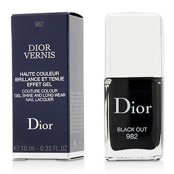 Christian Dior Dior Vernis Couture Colour Сияющий и Стойкий Лак для Ногтей - # 982 Black Out 10ml/0.33oz