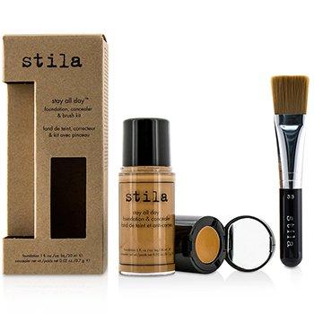 Stila Stay All Day Набор из Основы, Корректора и Кисти - # 12 Tan (Коробка Слегка Повреждена) -