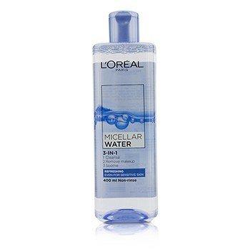LOreal 3-в-1 Мицеллярная Вода (Освежающая) - для Чувствительной Кожи 400ml/13.3oz