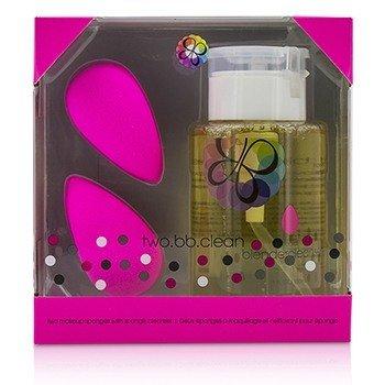 Two BB Clean Kit (2x BeautyBlender, 1x Liquid BlenderCleanser 150ml/5oz) - Original (Pink) (3pcs)