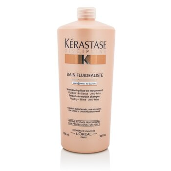 Discipline Bain Fluidealiste Smooth-In-Motion Sulfate Free Shampoo - For Unruly, Over-Processed Hair (1000ml/34oz)