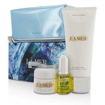 Sensorial Sensations Set: The Renewal Oil 15ml + Creme De La Mer The Moisturizing Cream 30ml + The Body Creme 200ml +Bag (3pcs+1bag)