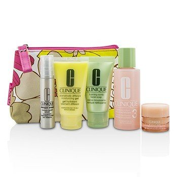 Travel Set: Facial Soap 30ml + Lotion 3 60ml + DDMG 30ml + Serum 10ml + All About Eyes 7ml + Bag (5pcs+1bag)