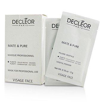 Decleor Mate  Pure Растительная Пудровая Маска - для Комбинированной и Жирной Кожи (Салонный Размер, Коробка Слегка Повреждена) 10x5g
