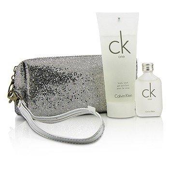Calvin Klein CK One Набор: Туалетная Вода Спрей 15мл/0.5унц + Гель для Душа 100мл/3.4унц + Сумка 2pcs+bag