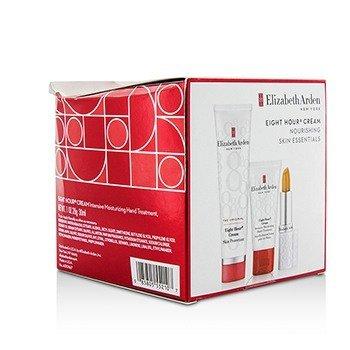 Elizabeth Arden Eight Hour Cream Набор Питательных Средств: Защитный Крем + Крем для Рук + Защитный Стик для Губ (Коробка Слегка Повреждена) 3pcs