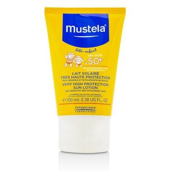 Mustela Солнцезащитный Лосьон SPF50+ - для Чувствительной к Солнцу Коже 100ml/3.3oz