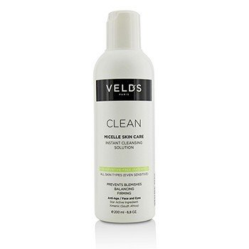 Clean Micelle Skin Care Instant Cleansing Solution - All Skin Types (Even Sensitive) (200ml/6.8oz)