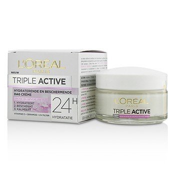 Triple Active Multi-Protective Day Cream 24H Hydration - For Dry/ Sensitive Skin (50ml/1.7oz)