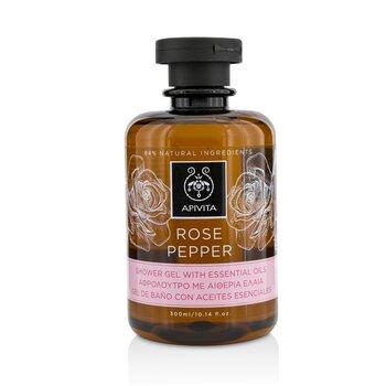 Apivita Rose Pepper Гель для Душа с Эфирными Маслами 300ml/10.14oz