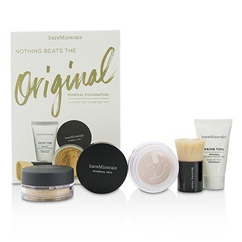 Get Started Mineral Foundation Kit - # 12 Medium Beige (4pcs)