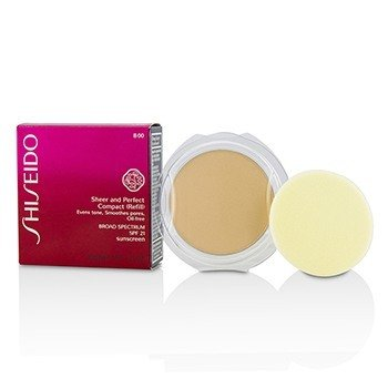 Shiseido Sheer  Perfect Компактная Пудра Основа SPF 21 (Запасной Блок) - # B00 Very Light Beige 10g/0.35oz