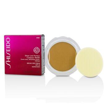 Shiseido Sheer  Perfect Компактная Пудра Основа SPF 21 (Запасной Блок) - # B60 Natural Deep Beige 10g/0.35oz