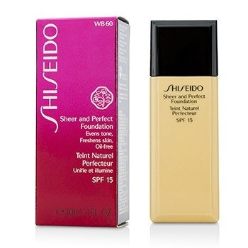 Shiseido Sheer & Perfect Foundation SPF 15 - # WB60 Natural Deep Warm Beige  30ml/1oz