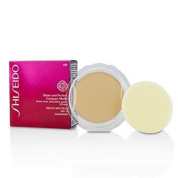 Shiseido Sheer  Perfect Компактная Пудра Основа SPF 21 (Запасной Блок) - # I00 Very Light Ivory 10g/0.35oz