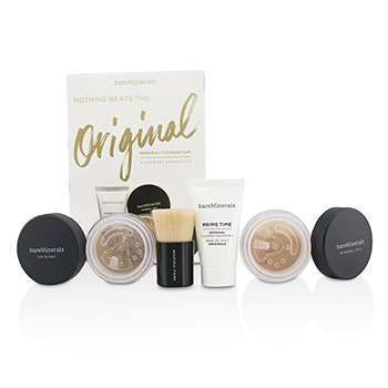 Get Started Mineral Foundation Kit - # 18 Medium Tan (4pcs)