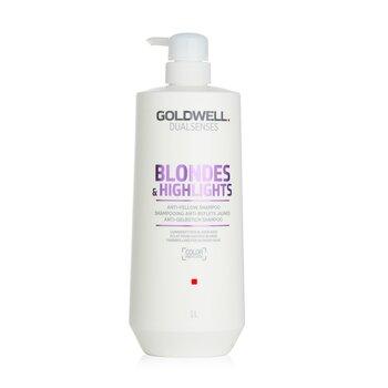 Dual Senses Blondes & Highlights Anti-Yellow Shampoo (Luminosity For Blonde Hair) (1000ml/33.8oz)