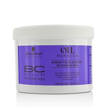 BC Bonacure Oil Miracle Barbary Fig Oil & Keratin Restorative Mask (For Very Dry and Brittle Hair) (500ml/16.9oz)