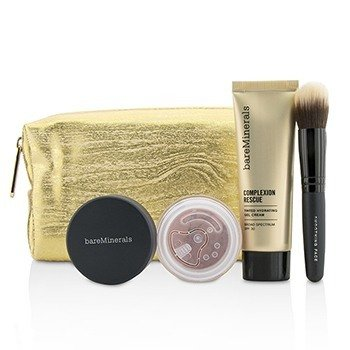 Take Me With You Complexion Rescue Try Me Set - # 03 Buttercream (3pcs+1bag)