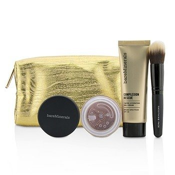 Take Me With You Complexion Rescue Try Me Set - # 09 Chestnut (3pcs+1bag)
