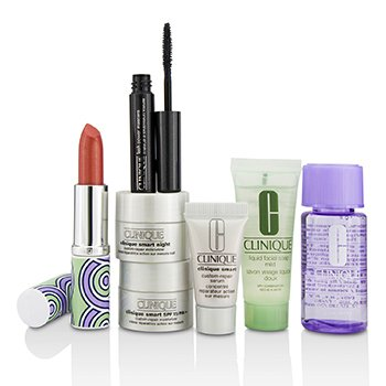 Bonus Travel Set: M/U Remover + Facial Soap + Repair Serum + 2x Moisturizer + Mascara + Lip Color (7pcs)