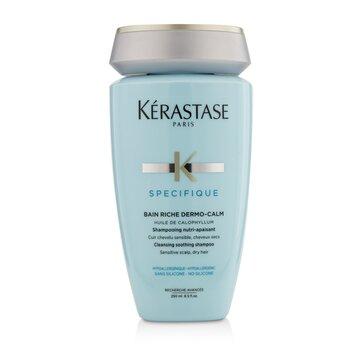 Kerastase Specifique Bain Riche Dermo-Calm Очищающий Успокаивающий Шампунь (для Чувствительной Кожи Головы, Сухих Волос) 250ml/8.5oz