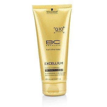 Schwarzkopf BC Excellium Q10+ Omega 3 Смягчающий Шампунь (для Жестких Зрелых Волос) 200ml/6.8oz