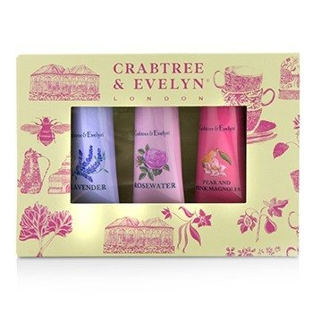Florals Hand Therapy Set (1x Pear & Pink Magnolia, 1x Rosewater, 1x Lavender) (3x25g/0.9oz)