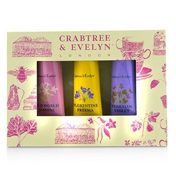 Crabtree  Evelyn Heritage Hand Therapy Набор для Рук (1x Old World Jasmine, 1x Florentine Freesia, 1x Venitian Violet) 3x25g/0.9oz
