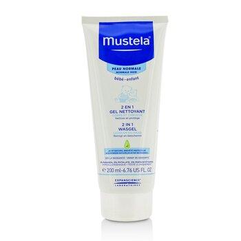 Mustela 2 в 1 Очищающий Гель для Тела и Волос - для Нормальной Кожи 200ml/6.76oz