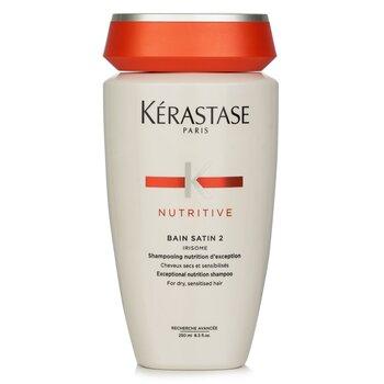 Nutritive Bain Satin 2 Exceptional Nutrition Shampoo (For Dry, Sensitised Hair) (250ml/8.5oz)