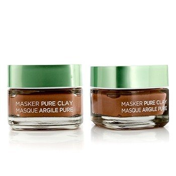 Skin Expert Pure Clay Mask Duo Pack - Exfoliate & Refine Pores (2x50ml/1.7oz)